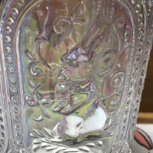 White Rabbit Other - Unique Adorable Iridescent Bunny Drinking Glass 🐇